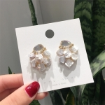 925 Silver Baroque Irregular Pearl Crystal Stud Earrings