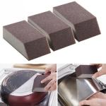 3 PCS Sponge Brush Aluminum Oxide Emery Sponge Clean Brush  Kitchen Cleaning Brush