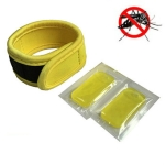 Outdoor Mosquito Diving Material Bracelet Wristband with 2 pieces of Natural Plant Mosquito Repellent Tablets(Yellow)