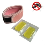 Outdoor Mosquito Diving Material Bracelet Wristband with 2 pieces of Natural Plant Mosquito Repellent Tablets(Pink)