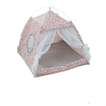 Four Seasons Universal Cat Small Dog Tent Removable and Washable Cat Litter Pet Nest, Size:M(Leopard Grain Pink)