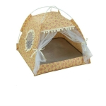 Four Seasons Universal Cat Small Dog Tent Removable and Washable Cat Litter Pet Nest, Size:M(Floral Orange)