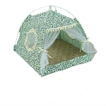Four Seasons Universal Cat Small Dog Tent Removable and Washable Cat Litter Pet Nest, Size:L(Leopard Grain Green)