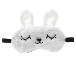 Plush Blinking Rabbit Shading Sleep Eye Mask(White)