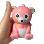 3 PCS Cute Slow Rebound Bear Scent Charm Relief Stress Children Squeeze Toy, Random Color Delivery
