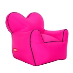 Outdoor Portable Single Moisture Water Proof Inflatable Lazy Sofa Bean, Size:80x90x80cm(Rose red)