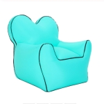 Outdoor Portable Single Moisture Water Proof Inflatable Lazy Sofa Bean, Size:70x80x70cm(Lake Blue)