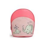 Waterproof Baby Diaper Bag Insulated Breast Milk Cooler Bag Fashion Mommy Travel Bag Portable Bottle Stroller Hanging Bag(Pink + elephant)