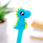 5 PCS Creative Stationery Dinosaur Silicone Head Neutral Pen(Blue)