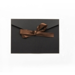 20 PCS Vintage Blank Kraft Paper DIY Multifunction Envelope Ribbon Postcard Box Small(Black)