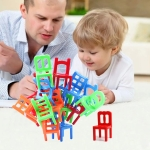 18 PCS / Set Balance Geometric Small Chair Toy Accessories Children Pretand Play House Dining Chair