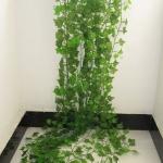 12 PCS 2.4M Artificial Ivy Green Leaf Garland Plants Vine Fake Home Decor PlasticFlower Rattan String