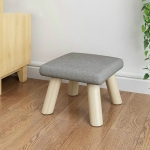 Fashion Creative Home Solid Wood Small Chair Children Stool(Square Gray)