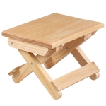 Portable Simple Pine Solid Wooden Folding Stool Outdoor Fishing Chair Stool(24x18x19cm )