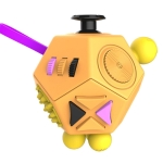 12 Sides Magic Cube Generation 2 Decompression Cube Toy with Gears & Rotating Dial & 360 Degree Joystick