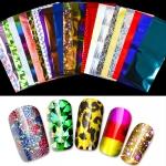 24 Sheets Nail Art Foils Laser Shinning Mixed Beauty Transfer Tips Sticker Craft DIY Universe Decorations
