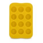 Silicone Chocolate Mold Tray Creative Geometry Shaped Ice Cube Cake decoration Mold, Shape:Round(Yellow)