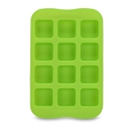 Silicone Chocolate Mold Tray Creative Geometry Shaped Ice Cube Cake decoration Mold, Shape:Square(Green)