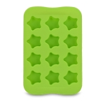 Silicone Chocolate Mold Tray Creative Geometry Shaped Ice Cube Cake decoration Mold, Shape:Star(Green)