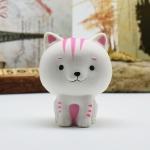 Cartoon Cat Squishy Toy white