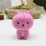 Cartoon Cat Squishy Toy Pink