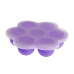 2 PCS 7 Grid Baby Food Container Infant Fruit Breast Milk Storage Box Freezer Tray Crisper(Purple)