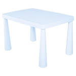 Plastic Double Thickening Rectangular Table Writing Desk Painting Game Toys Children Kindergarten Table, Size:Upgraded-Lift Type(Sky Blue)