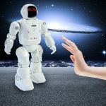 Dacing Mode RC Robot Motion Control Programmable Actions Facial Light Sounds Toys Smart Robot(White)