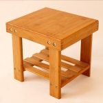 Modern Living Room Stool Durable Bamboo Made Small Bench Portable Fishing Stool Bamboo Wood Folding Stool