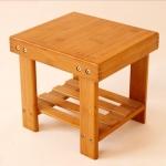 Modern Living Room Stool Durable Bamboo Made Small Bench Portable Fishing Stool Bamboo Wood Folding Stool