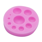 Round Silicone Fondant Cake Mold DIY Baking Decoration Chocolate Tool(Pink)