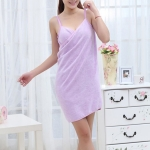 Fashion Lady Girls Wearable Fast Drying Magic Bath Towel Beach Spa Bathrobes Bath Skirt(Purple)