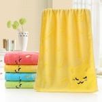 Cartoon Children Towel Children Jacquard Embroidery Cat Small Towel Home Bath Mini Kids Towels(Yellow)