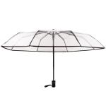 Creative Transparent Folding Umbrella 8 Bones Automatic Umbrella(Black)