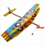 DIY Assemble Rubber Powered Model Plane Glider Aircraft Toy Educational Toys, Random Style Delivery