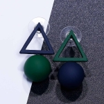 Individuality Asymmetric Triangle Circle Stud Earrings For Women