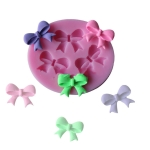 2 PCS Bow Fondant Cake Dry Pace Mould Liquid Silicone Realistic Chocolate Stereo Mould