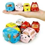 Mini Alloy Model Car Cartoon Inertia Toy Car Children Education Toys(Random Color)