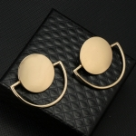 Punk Style Semicircle Round Geometric Drop Earrings For Women