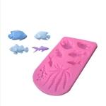 2 PCS Fondant Chocolate Dry Pes Fish Model Marine Animal Silicone Mould(Pink 50-1138)