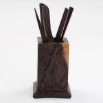 Tea Set Accessories Solid Wood Carving Tea Tray Decoration Tea Needle Tea Clip Barrel (LJZ5-1)