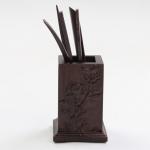Tea Set Accessories Solid Wood Carving Tea Tray Decoration Tea Needle Tea Clip Barrel (LJZ6-1)