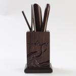 Tea Set Accessories Solid Wood Carving Tea Tray Decoration Tea Needle Tea Clip Barrel (LJZ3-1)