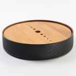 Household Simple Round Bamboo Tea Tray Mini Tea Table, Diameter: 21.5cm (CP26-1)