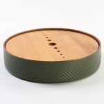 Household Simple Round Bamboo Tea Tray Mini Tea Table, Diameter: 21.5cm (CP28-1)