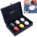Ceramic Mini Colourful Tea Pot Storage Moisture-proof Can Sealed Tea Tank Set
