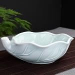 Tea Washing Ceramic Cup Tea Set Accessories Celadon Daffodil Flower Pot (Blue)