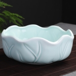 Tea Washing Ceramic Cup Tea Set Accessories Celadon Daffodil Flower Pot