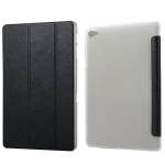 Silk Texture Horizontal Flip Leather Case with Three-Folding Holder for Huawei M5 Lite 10.1 (Black)