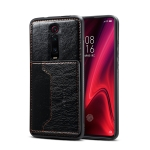 Dibase TPU + PC + PU Crazy Horse Texture Protective Case for Xiaomi Redmi K20 / K20 Pro, with Holder & Card Slots(Black)